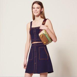 Sandro NWOT Héloïse blue knit mini skirt size 2